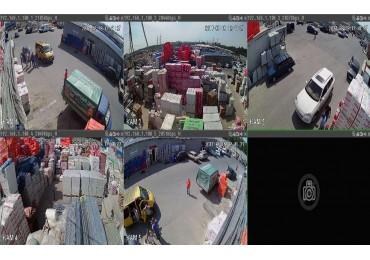 Монтаж видеонаблюдения в строительном торговый плошадке рынок Мельница