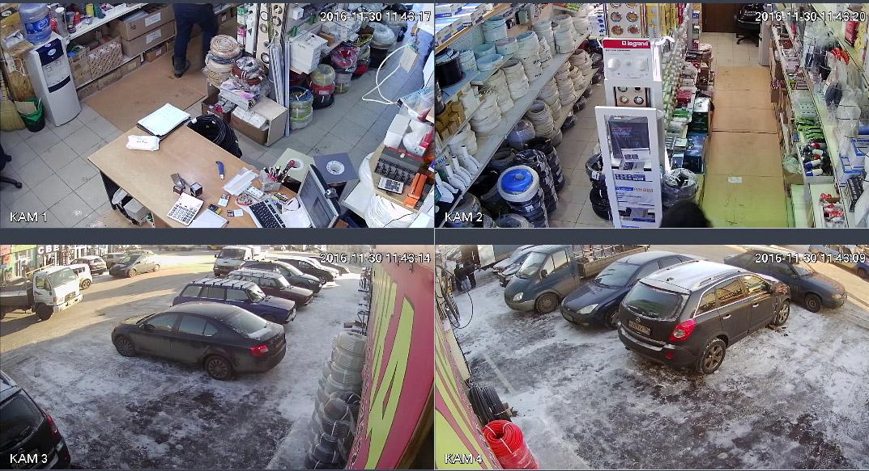 Установка системы видеонаблюдения в магазин электрика - 41й км Рынок