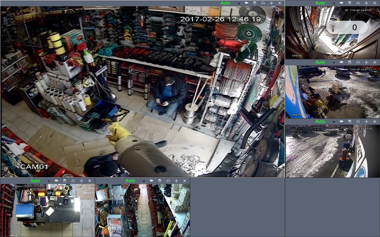 Монтаж видеонаблюдения в строительном магазине рынок Мельница