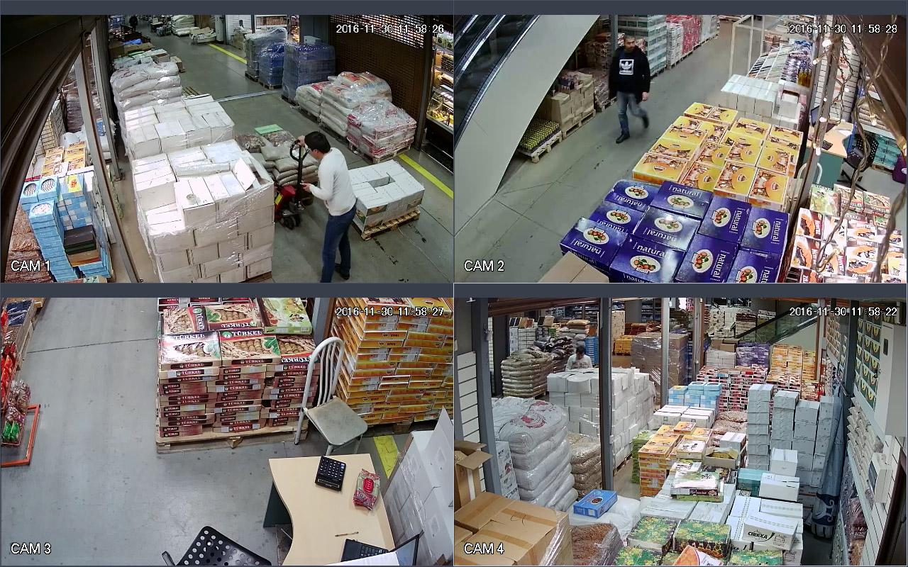 Установка видеонаблюдения в магазине сухофруктов Фуд Сити