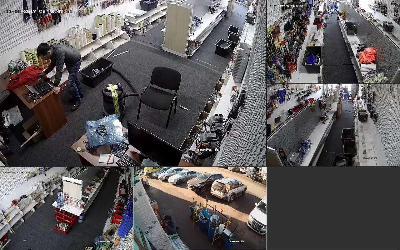 Установка видеонаблюдения в строительный магазине рынок Мельница