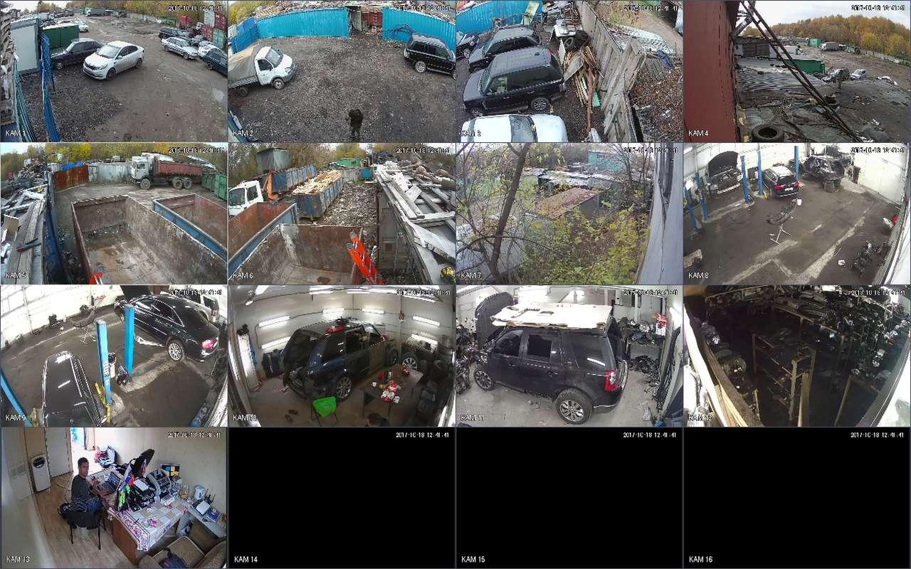 Установка видеонаблюдения в авто сервисе