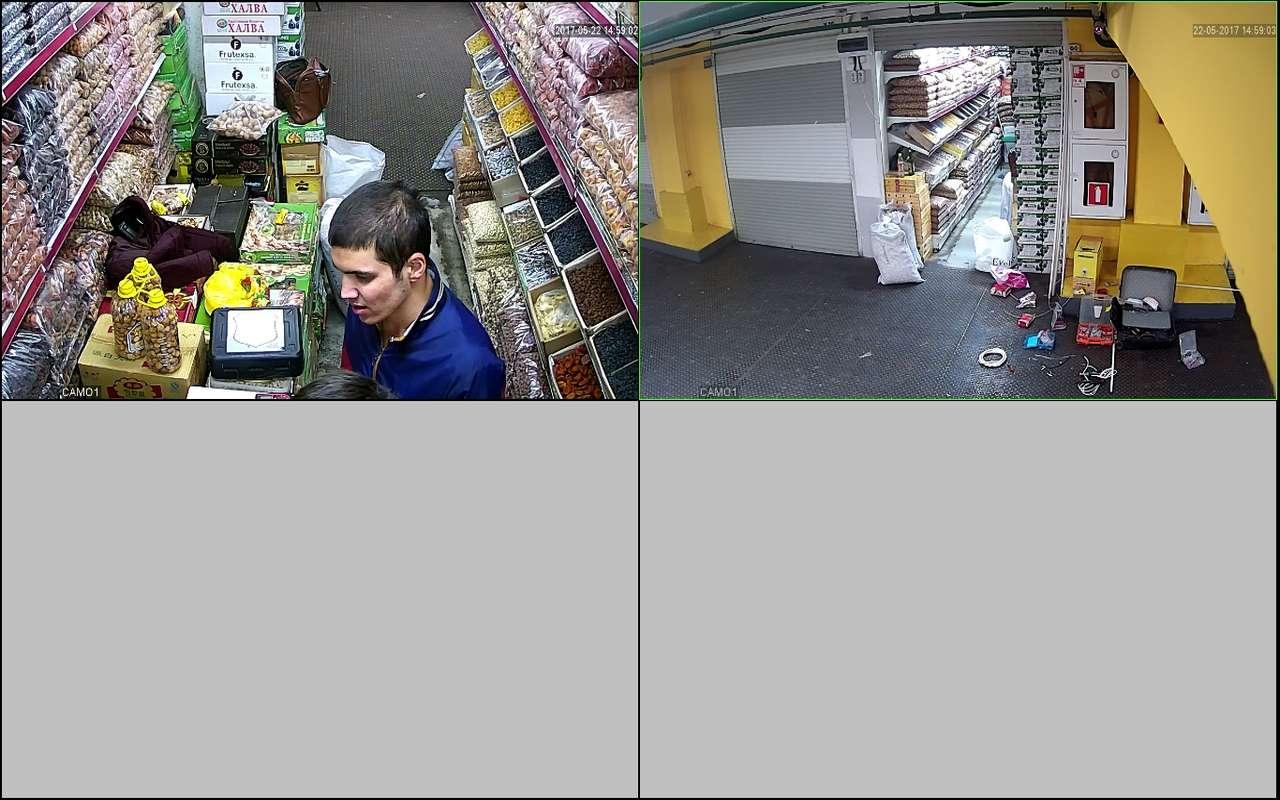 Установка видеонаблюдения в магазин сухофруктов м.Киевский