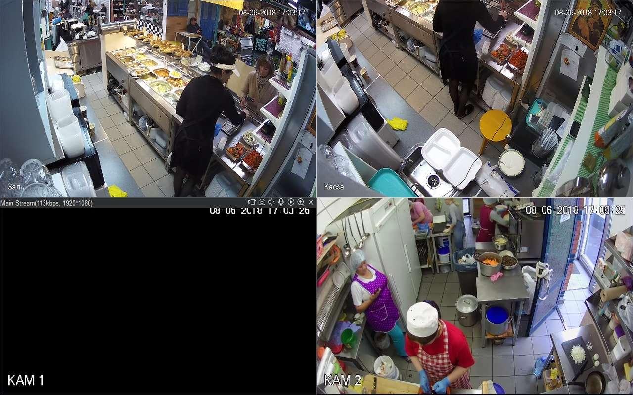 Установка видеонаблюдения в кафе м.Коньково