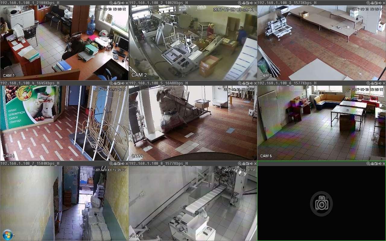 Установка видеонаблюдения на производстве г.Видное