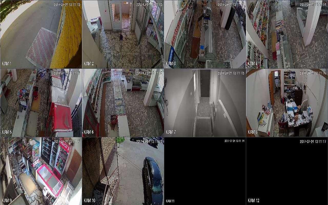 Установка видеонаблюдения в магазине Солнцево