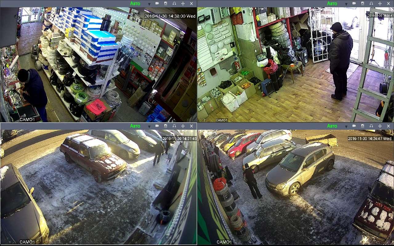 Установка видеонаблюдения в магазин электрика рынок Мельница