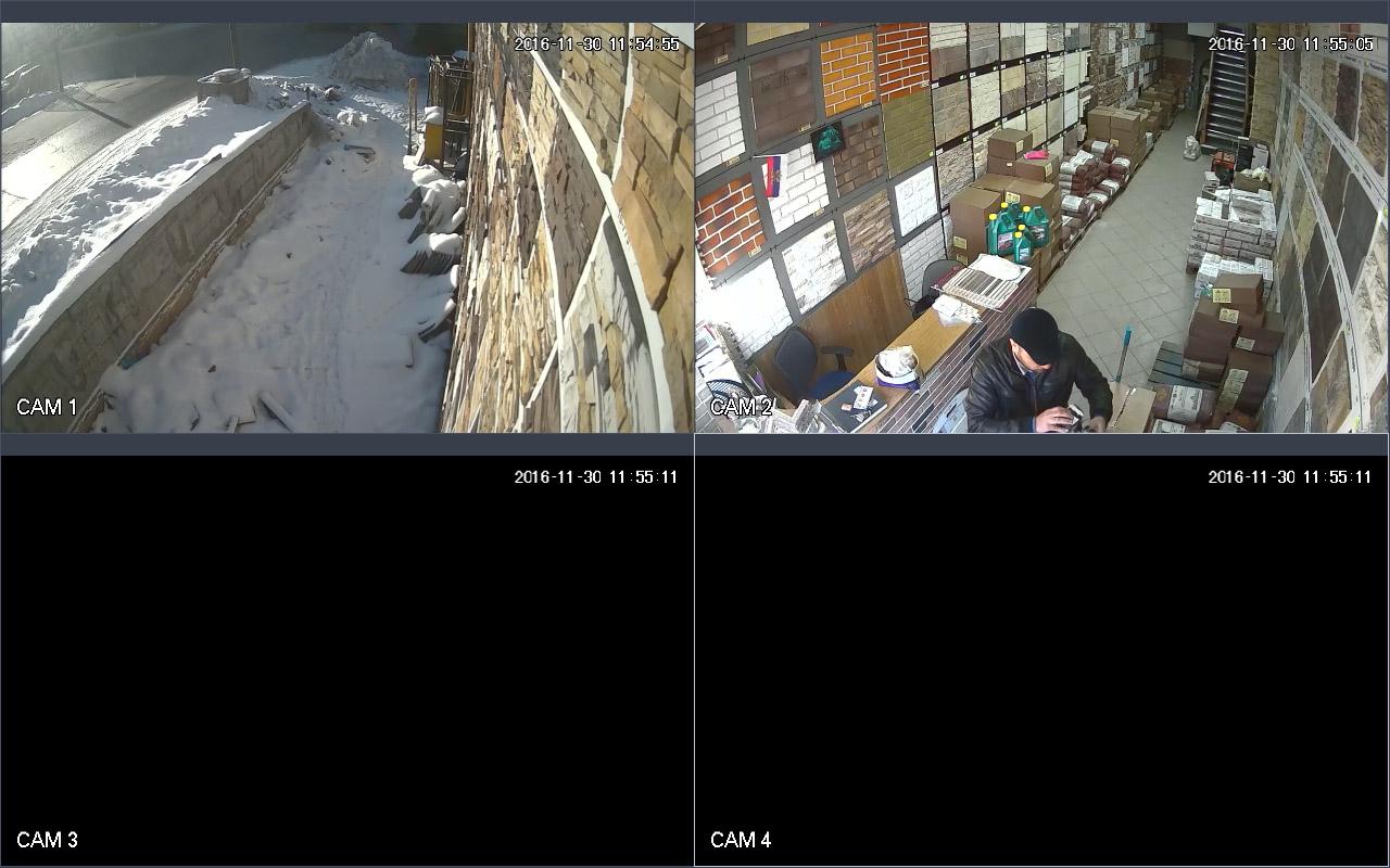 Установка видеонаблюдения в магазин каменов рынок Мельница