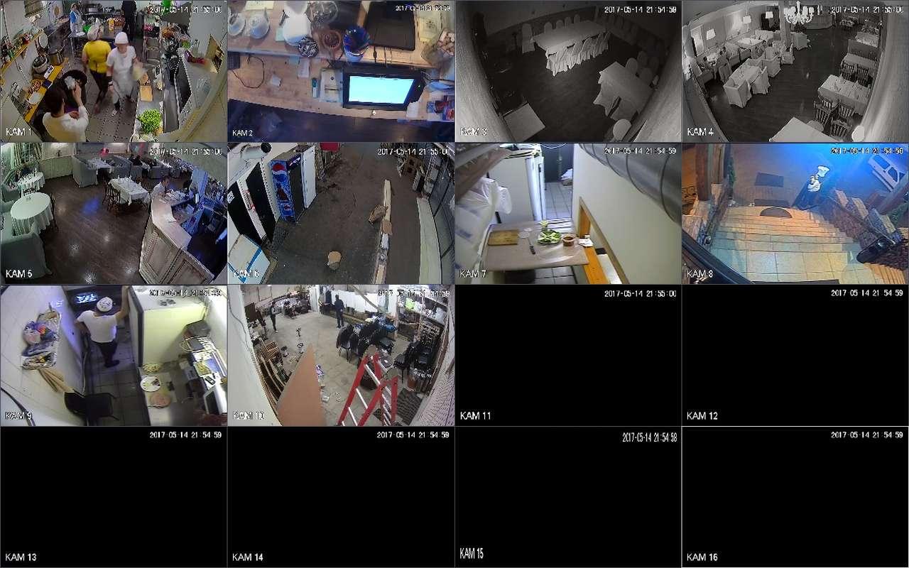 Установка видеонаблюдения в кафе Berikoni