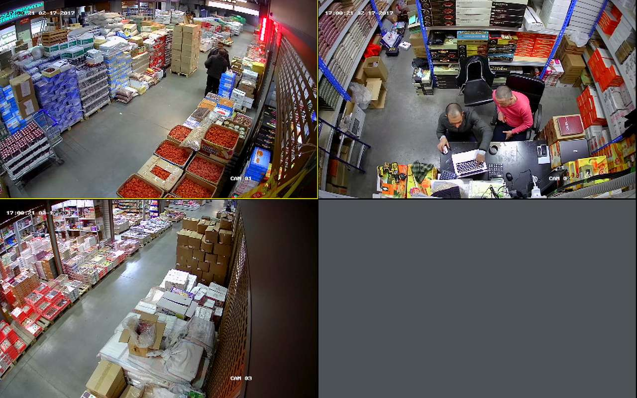 Установка видеонаблюдения в магазин сухофруктов Фуд Сити