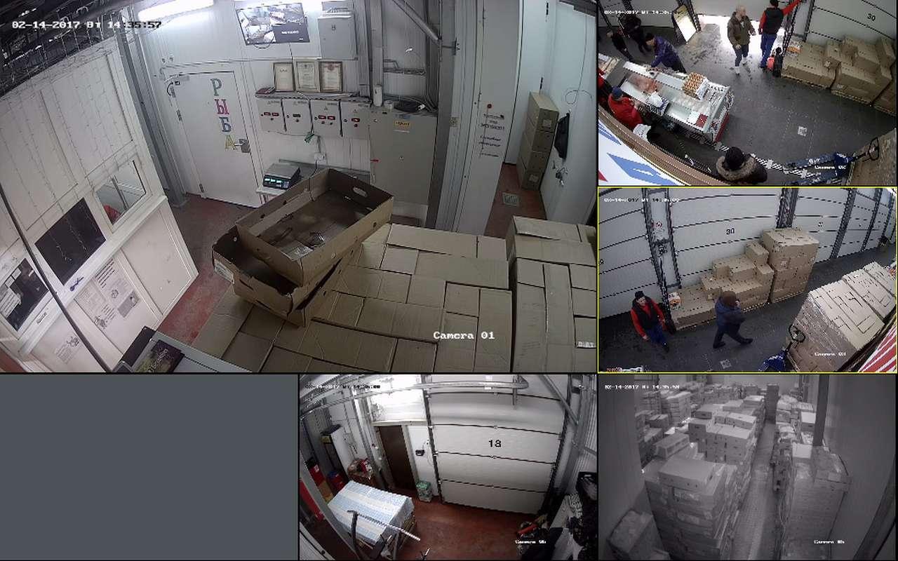 Установка видеонаблюдения в магазине Фуд Сити