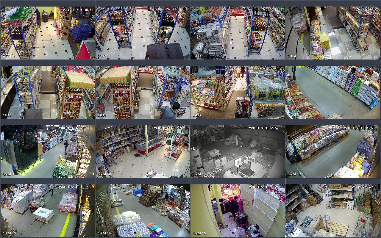Монтаж системы видеонаблюдения в Фуд Сити