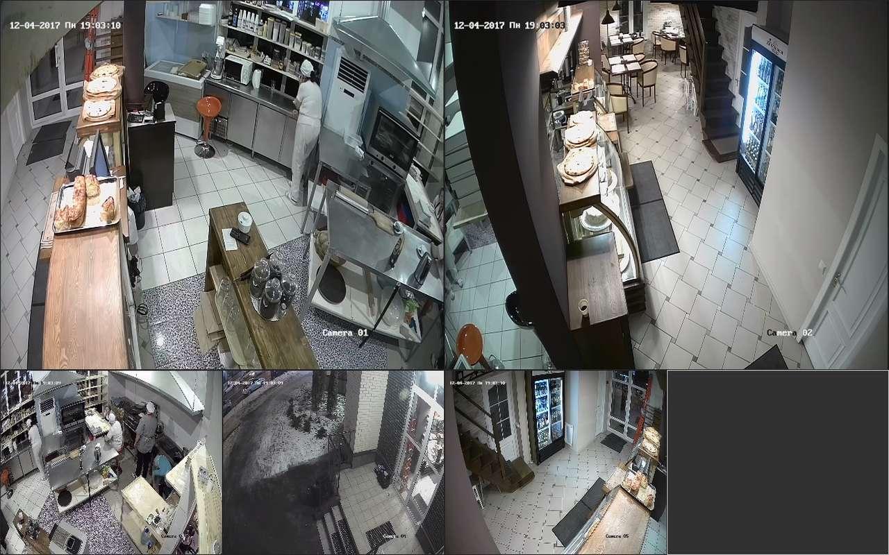 Установка видеонаблюдения в пекарне поселок Коммкнарка